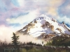 Mt. Hood Watercolor Painting